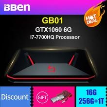 Bben GB01 desktop gaming computer windows 10 Intel I7 7700HQ CPU GDDR5 6GB NVIDIA GEFORCE GTX1060