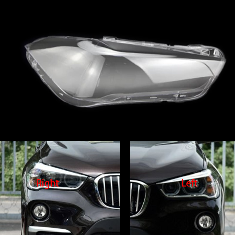 For BMW X1 F48 F49 2016-2018 Front Headlamps Transparent Lampshades Lamp Shell Masks Headlights Cover Lens Headlight Glass