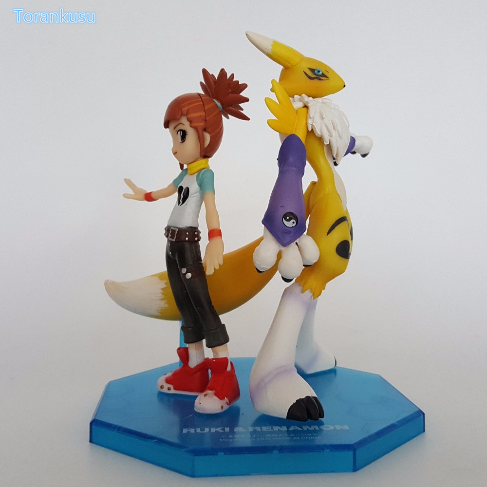 Digimon Action Figures Makino Ruki Renamon PVC Figures 110mm Digital Monster Model Toys Digimon Adventure Game Digimons Doll image
