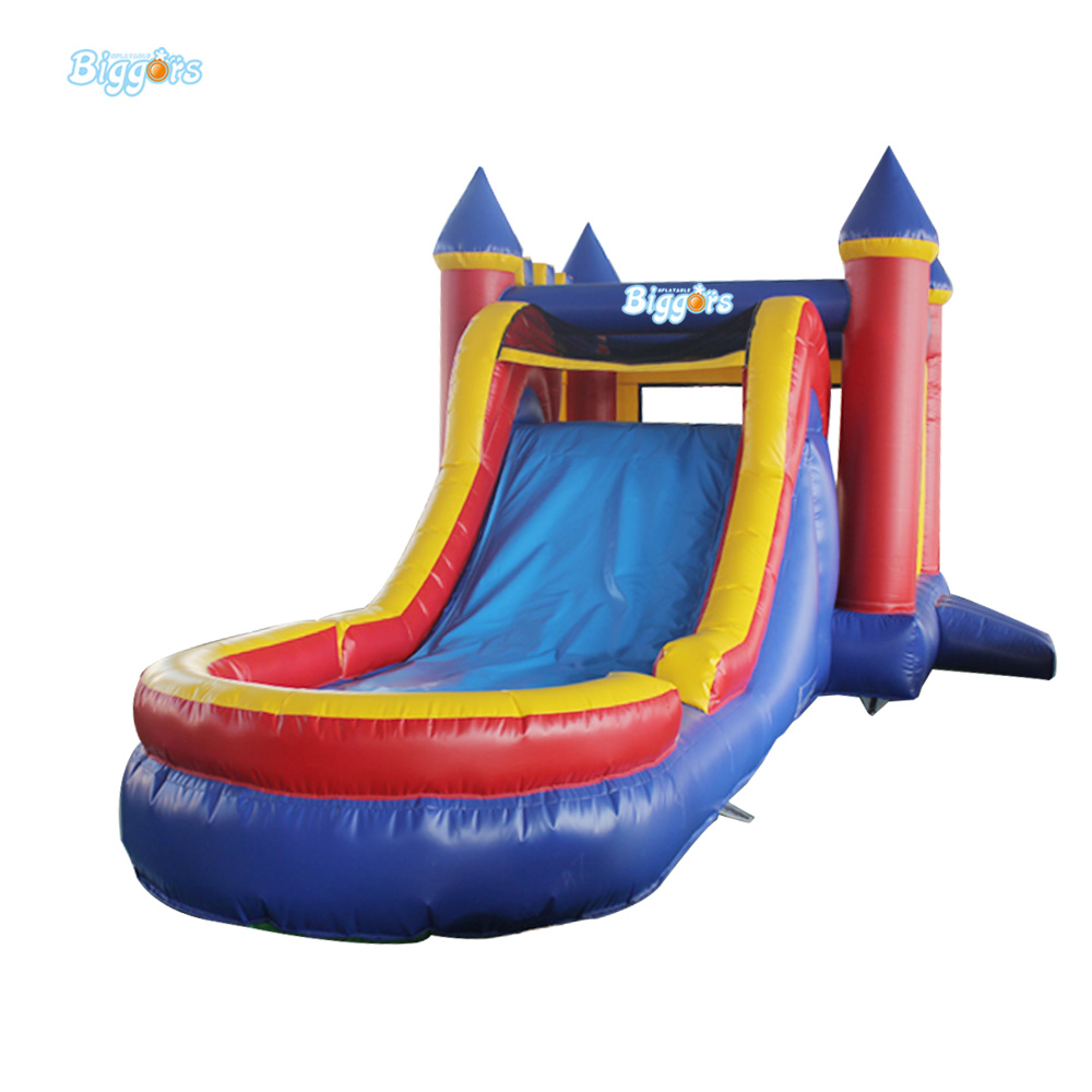 Inflatable Biggors 7*4*3.5 m/ 23*13*11 ft Size Pool Slide Inflatable Water Slide Games For Rental