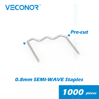 Pack Of 1000pcs 0 8mm Semi Wave Staples For Hot Stapler Plastic Welder Bumper Repair Machine