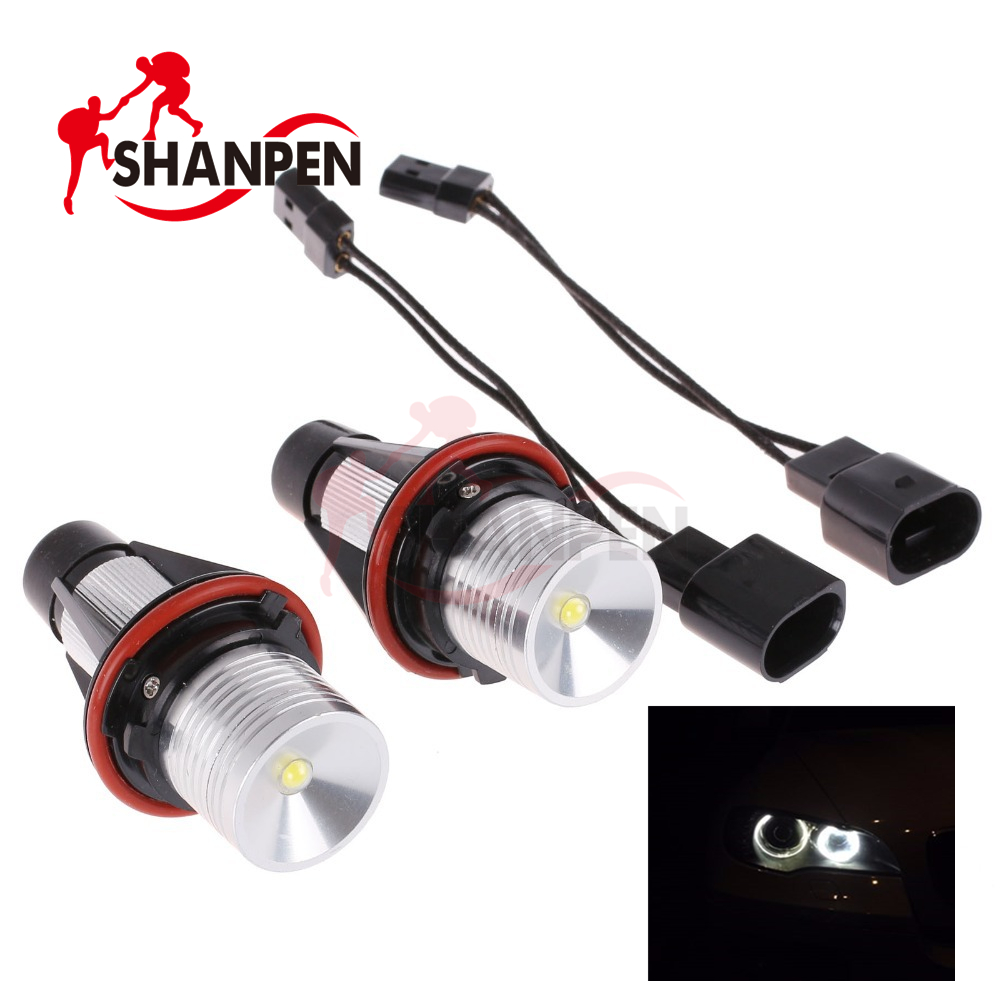 2Pcs Angel Eyes For Bmw X5 E39 E53 Car Led Light 5W 6000K-1681