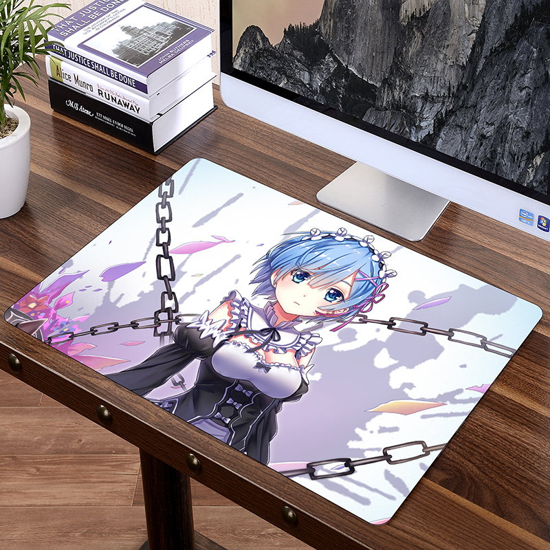 SIANCS Japan Anime Mousepad XL 60 x 40cm Game Gamer gaming Mouse pad RE Rem Ram Office Desk Mat Best Gift For wife girl friend image