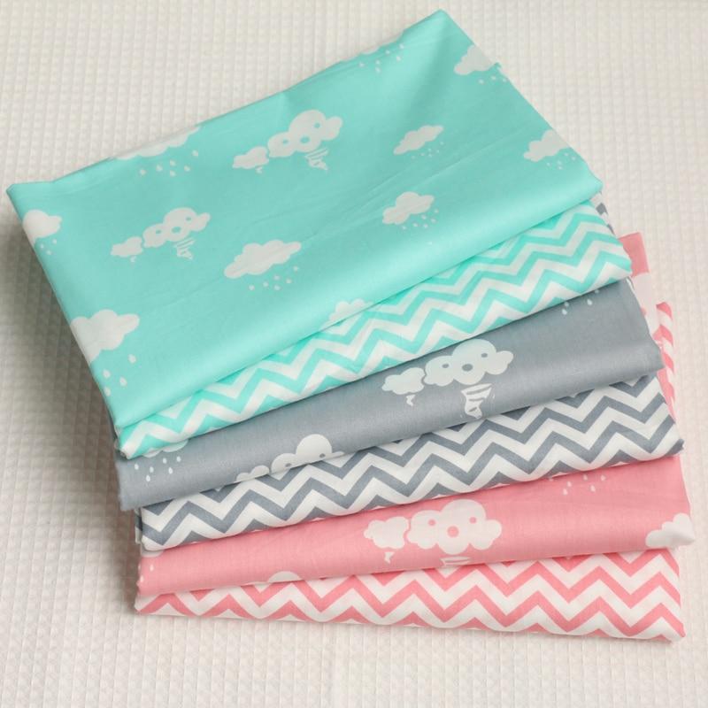 Nubes Olas Impresa Pañuelos de Tela de Algodón Para coser la Costura Del Arte de