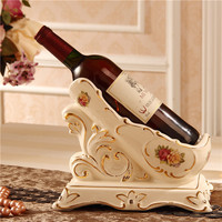 European and American luxury Ivory ceramic wine rack ornaments retro champagne wine aristocracy dining room wine holder