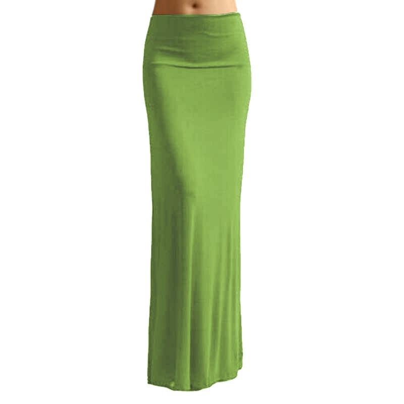692ecf247e0 Women Long Skirts Candy Color Womens Faldas Plus Size Maxi Skirt 6 Colors  Saias Cintura Alta