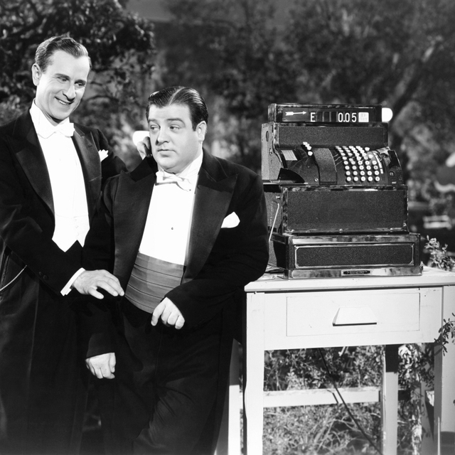 Hold That Ghost From Left: Bud Abbott Lou Costello 1941 Photo Print (28 x 22)