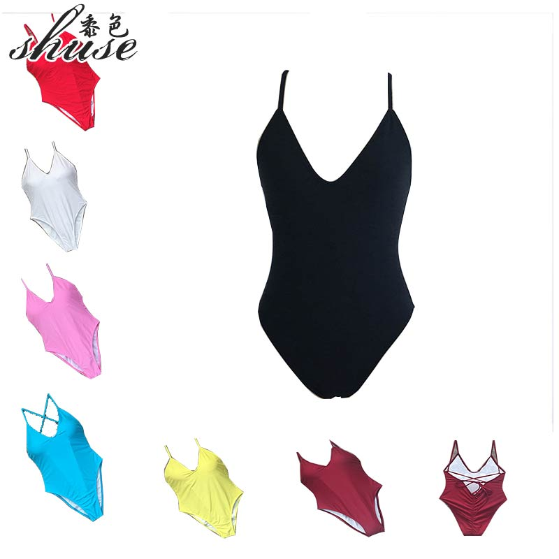 e23530f41782d SHUSE 2018 Sexy One Piece Swimsuit Women Push Up Backless Bodysuit Bandage  Monokini Mujer swimsuit for