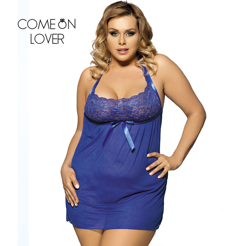 Comeonlover Erotic Lingerie Sleepwear Intimate Underwear Sex Products RI70207 Plus Size Lingerie Nuisette Grande Taille Sexy