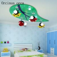 Творческий божья коровка светодиодная безопасная для зрения энергосбережения лампа для детской комнаты лампа для комнаты малыша мультяшн