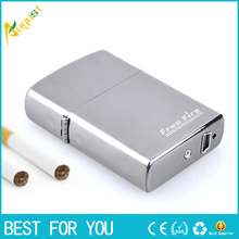 10pcs/lot Novelty Gadget Rechargeable USB Lighter Electronic Cigarette Lighter Windproof for Smoking Silver