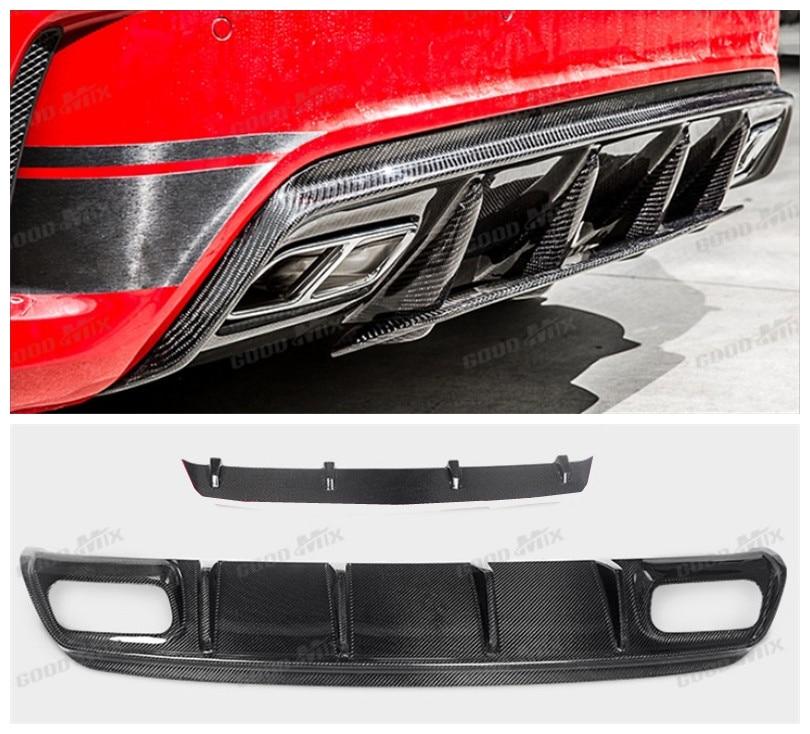 Car Carbon Fiber Rear Lip Spoiler For Mercedes-Benz A Class W176 A45 AMG 2016.2017 HighQuality Bumper Diffuser Auto Accessories