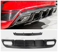 Car Carbon Fiber Rear Lip Spoiler For Mercedes Benz A Class W176 A45 AMG 2016.2017 HighQuality Bumper Diffuser Auto Accessories