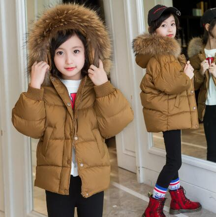 Fashion Girls Down jackets 2018 Winter Children Warm Fur Hooded Coats Thick Parkas For Girls Clothes Kids Outerwears fur hooded girls winter coats and jackets outwear warm long down jacket kids girls clothes children parkas baby girls clothing