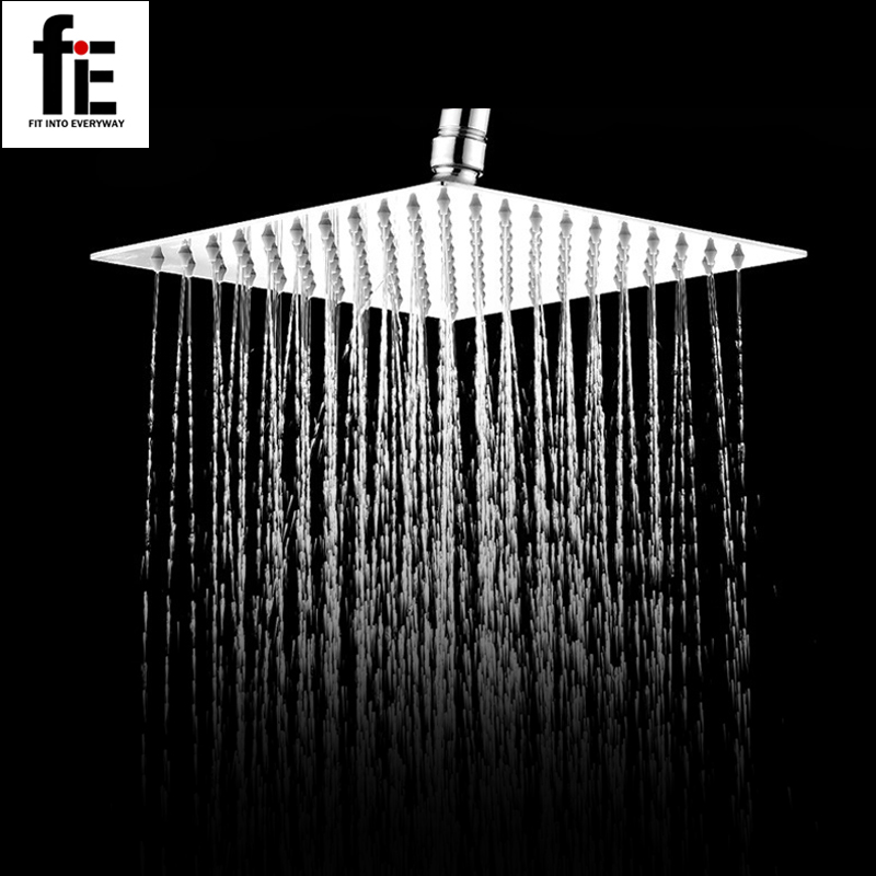 fie 304 stainless steel ultrathin round shower head inch