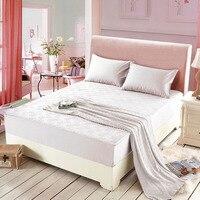 Modern simples clipe de algodão babados colcha queen size capa de colchão lençol duplo uma peça frete grátis