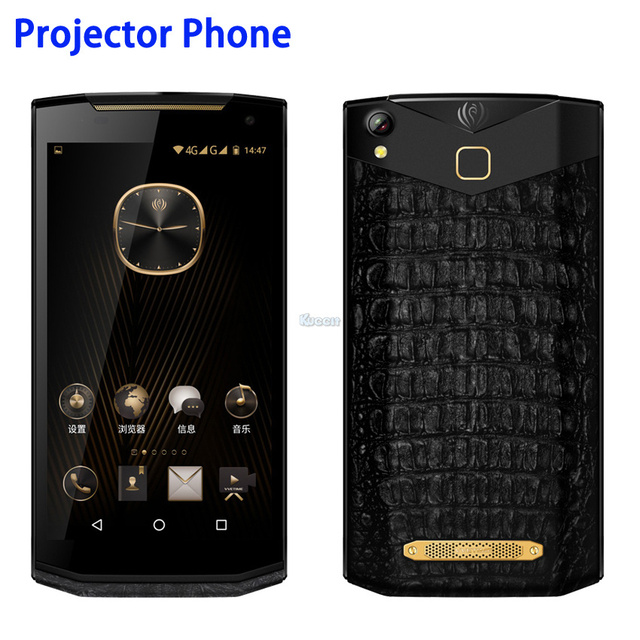 515c2763b70 China Kcosit VM2 Android Projector Phone Portable Business Luxury Smartphone  Leather 5.9