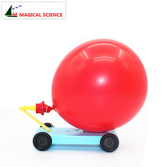 Wholesale Physical Experiments Homemade Balloon Recoil Car DIY Materials,home School Educational Kit For Kids Students