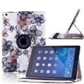 Цветочные Картины Cover Case для iPad Air 1 360 Градусов PU кожа Anti-Dust Smart Case для Ipad Air 1/Air 2 Капа Пункт