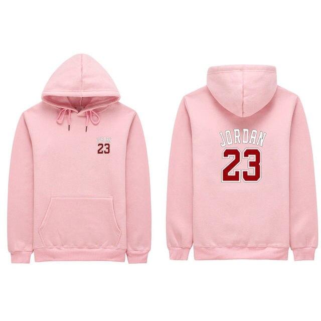 2153acdbd57e0b 2018 Autumn New Mens Women Pink JORDAN 23 Hoodies Fashion Printing Cotton  100% 1 1 Casual Sweatshirts Men Women Sweatshirt S-2XL