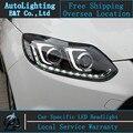 Car styling LED Cabeza De La Lámpara para Ford Focus 3 led señal led drl faros 2012-2014 cob H7 hid Lente Del Bi-Xenón