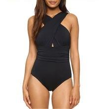 Женский винтажный Монокини Цельный купальник купальники с подкладкой
