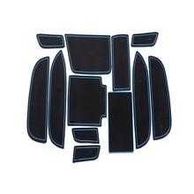 Dongzhen Автомобилей Non-Slip Интерьер кубок подушки Дверной Коврик охватывает Кубок Мат наклейки, Пригодный Для Honda Civic Девять поколений 1.8L 12 шт.