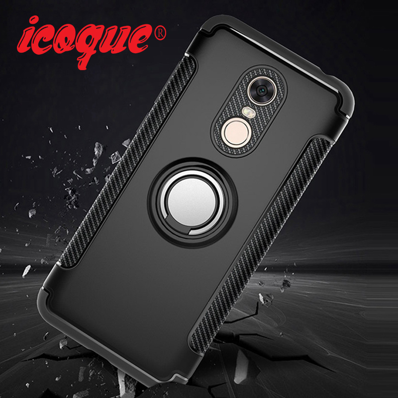 Magnetic Car Holder Case for Xiaomi Note 5 6 Pro 6A Finger Ring Stand Phone Cover for Xiaomi Mi8 Lite Mi A1 A2 lite Note 4 Coque