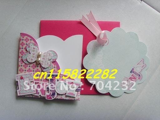 Model 6 DIY 3D greeting card for Christmas,thanksgiving,birthday,wedding 500pcs/lot + Free shipping