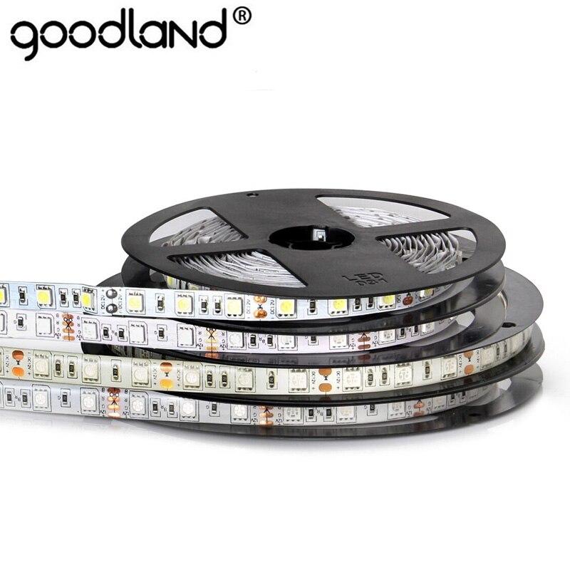 O diodo emissor de luz da luz de tira 5M 60LEDs / m do diodo emissor de luz do RGB RGB 5050 DC12V IP65 Waterproof a luz flexível do diodo emissor de luz da única cor para a decoração home