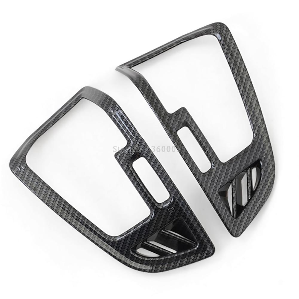 Carbon fiber Side Air Vent Outlet Cover Trim For Ford Kuga Escape 2017 2018