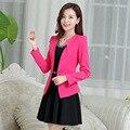 Горячая распродажа весна и осень розовый костюм женщин 2016 новых мужчин деловые костюмы короткие тонкий женский верхняя одежда популярный костюм женщины A153