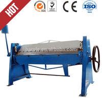 WS 1.5*1300 manual steel folding machine / steel sheet metal bender / duct folding equipment