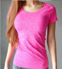 women's gym fitness running sports short shirt quick drying sleeve t-shirt exercise clothes