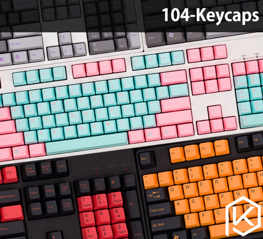 PBT DIY Keycaps Set for Mechanical Keyboard Gaming Keyboard Keycaps US Layout Keycaps