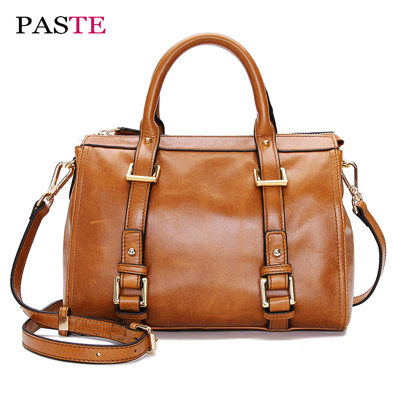 Genuine leather handbags Fashion design boston tote bag female Famous brand Soft Small Shoulder Messenger Crossbody bags women women leather handbag famous brand design boston messenger bag fashion vintage ladies small shoulder bags bolsa 2017 new xa120h