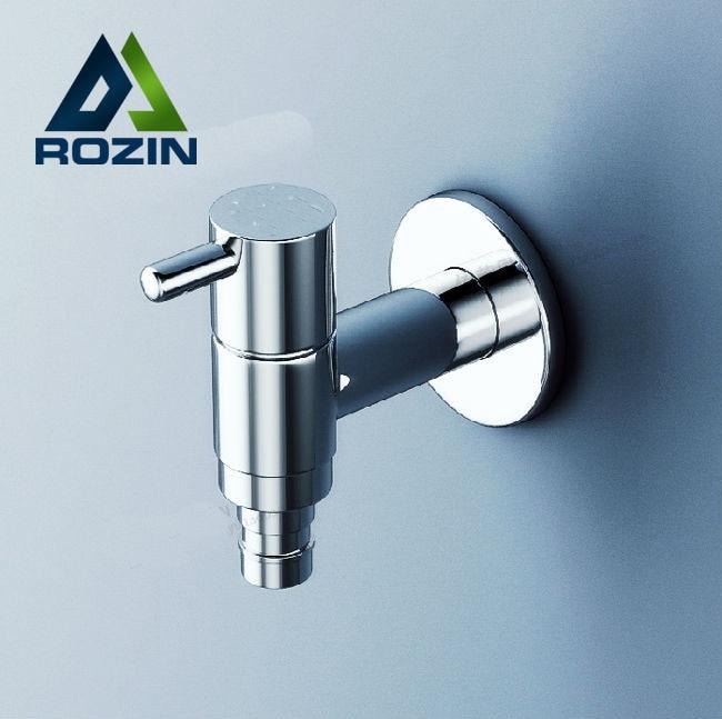 New Chrome Brass Washroom Mop Washing Machine Tap bathroom faucet A Pair