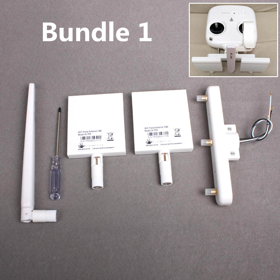 DIY DJI Phantom 3 Standard Remote Controller Refitting Antenna Extended 1KM Long Range Antenna Combo Signal Booster Kit (2 Type) 3d printed remote control antenna balancer range booster antenna parallel keeper for dji phantom 4 3 inspire 1