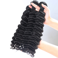 Brazilian Virgin Hair Deep Wave Bundles 100 Hair Extension Natural Color Human Hair Weave 10 28