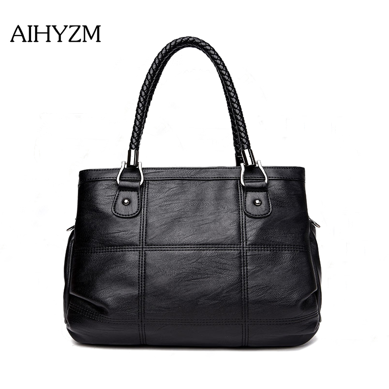 108ac3bc61cf Aliexpress.com   Buy AIHYZM Bolsa Feminina Three Layers Designer Women Bags  Famous Brands Luxury Handbags Shoulder Soft High Quality Pu Leather Bags  from ...