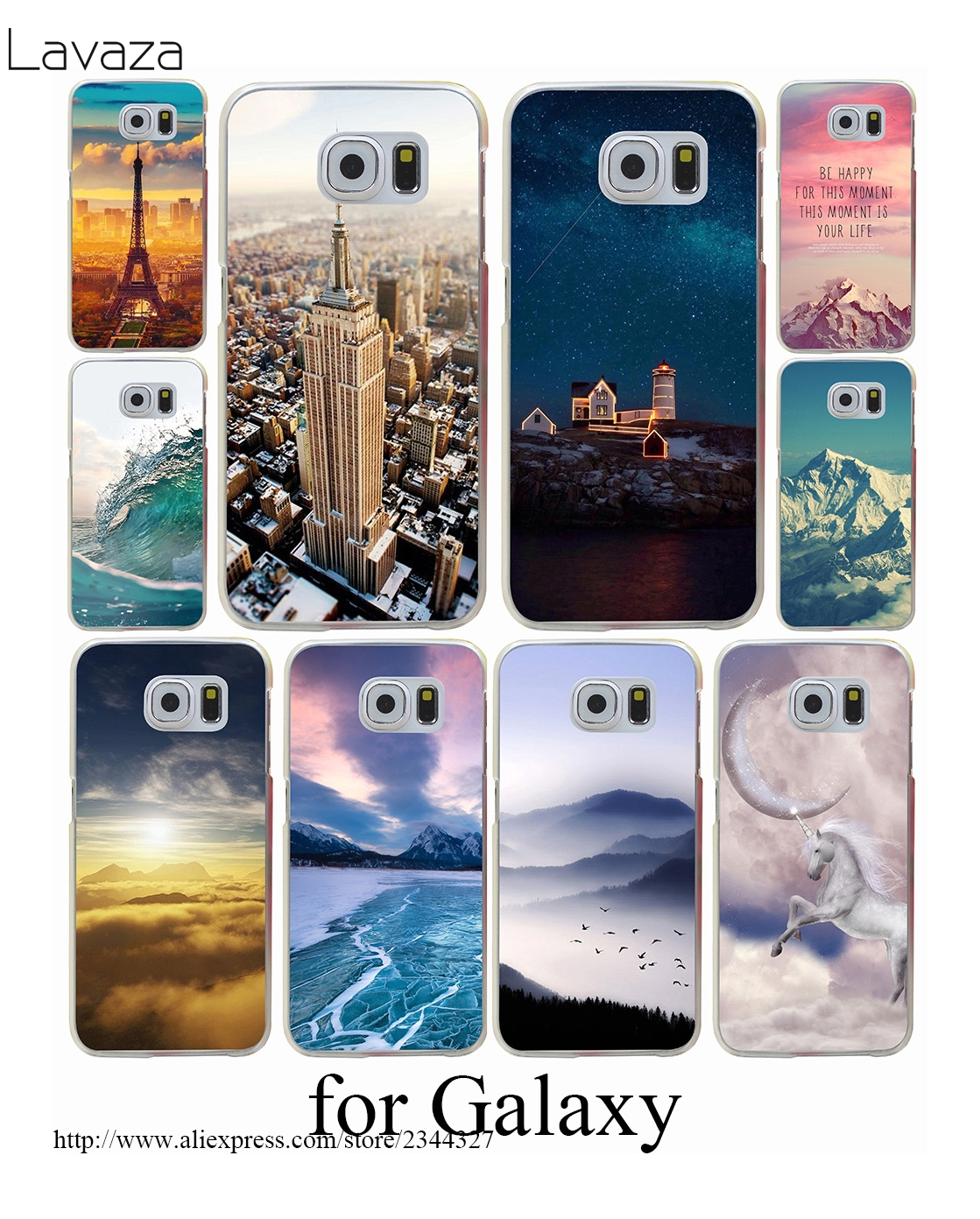 Painting Multipeaked Hard Transparent Case Cover for Galaxy S3 S4 S5 & Mini S6 S7 Edge Plus Case Cover