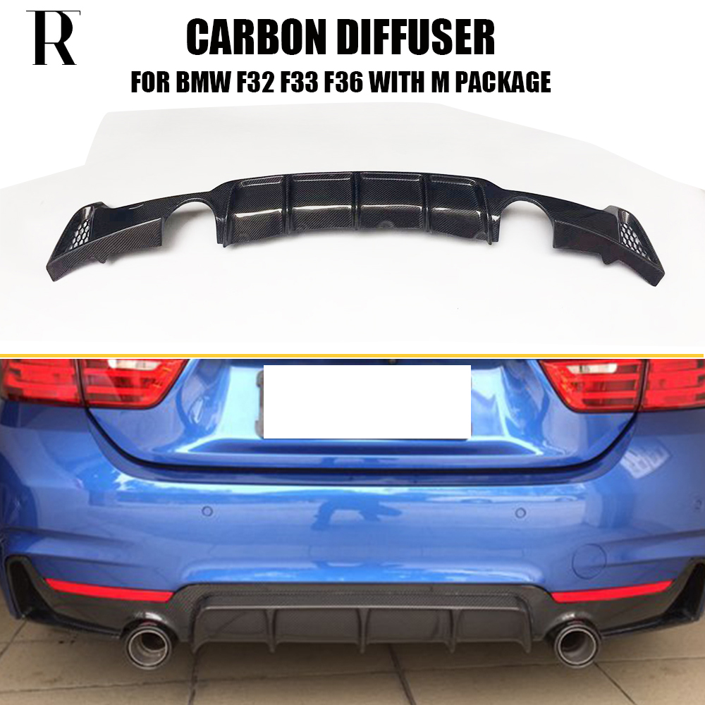 Carbon Fiber Rear Bumper Lip Diffuser Spoiler for BMW F32 F33 F36 - Auto Replacement Parts - Photo 1
