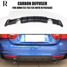 Sợi Carbon Sau Ốp Lưng Môi Khuếch Tán ĐẦM XÒE DỰ BMW F32 F33 F36 420i 428i 435i 420D 428d 435d M- tech M-Thể Thao 2014-2019