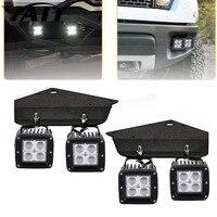 Yait 4 шт. 3x3 светодиодный свет работы Cube стручки светодиодный фонарь комплект w/нижней части бампера монтажные кронштейны для 2010 2014 Ford F150 SVT