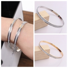 New Fashionable Frosted Silver Bracelet From Europe and America Stainless Steel