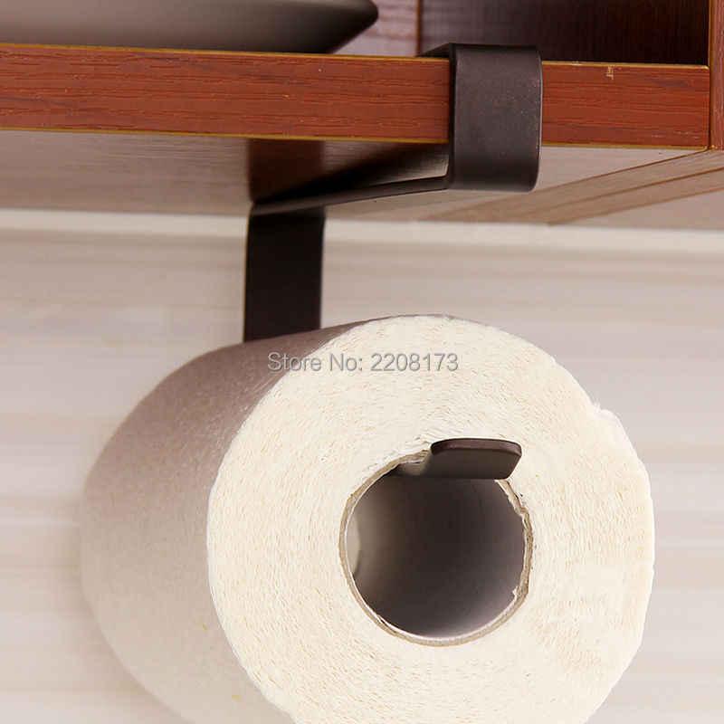 Smesiteli جديد تصميم عالية الجودة شنقا البني النهاية المطبخ حامل الورق الملفوف رف مناشف المطبخ صنبور اكسسوارات
