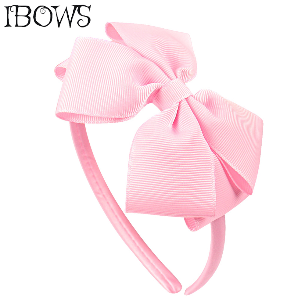 Lovely Boutique Solid Ribbon Hairband Handmade Candy Color Hair Bows Headband For Children Girls   Headwear   Hair Accessories