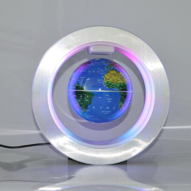 Cadre Carte Du Monde Lévitation Magnétique Flottant Globe Tellurion Avec LED Lumière Décoration 1
