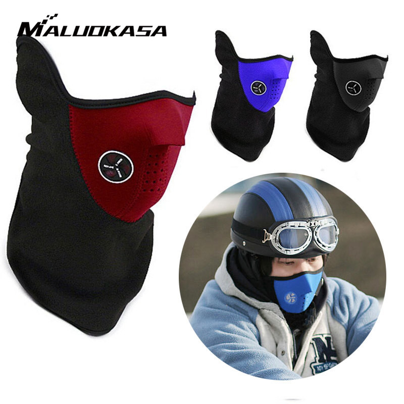 Motorcycle Half Face Mask Cover Fleece Unisex Ski Snow Moto Cycling Warm Winter Neck Sports Outdoor Scarf Protecting Maske