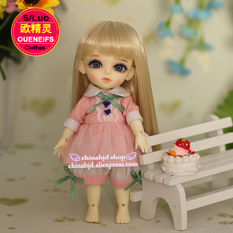 OUENEIFS free shipping girls pink clothes with white pants ,1/8 bjd sd baby clothes, no dolls and wigs YF8 to 9 free shipping no game no life stephanie dora rainbow gradient cosplay wigs